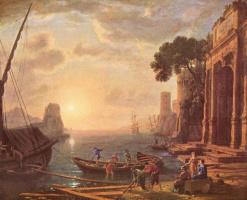 Клод Лоррен. Гавань на закате солнца