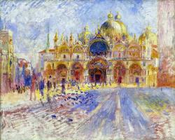 Pierre Auguste Renoir. Square. Mark's, Venice
