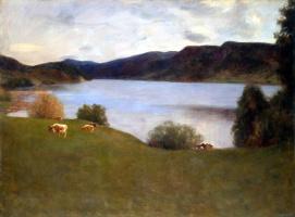 Эрик Вереншелль. Пейзаж с озером