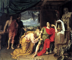 Alexander Andreevich Ivanov. Priam asking Achilles Hector's body