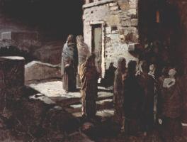 Николай Николаевич Ге. Христос с учениками входит в Гефсиманский сад