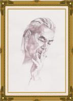 Иван Александрович Долгоруков. Акварельный портрет Л.И.Брежнева