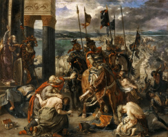 Eugene Delacroix. The capture of Constantinople by the crusaders