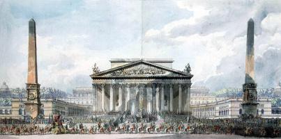 Луи-Жан Депре. Торжественное открытие Храма бессмертия