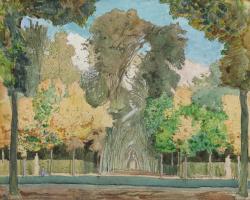 Константин Андреевич Сомов. Осень в парке Версаля. 1898