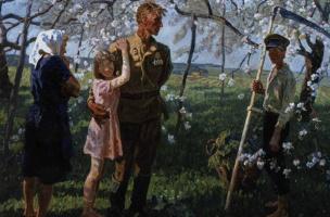 Алексей Петрович И    Сергей  Ткачевы. Май 1945 года