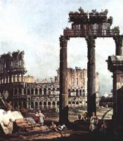 Джованни Антонио Каналь (Каналетто). Римское каприччио, Колизей и руины храма Веспиана