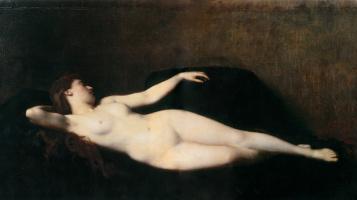 Жан-Жак Эннер. Женщина на черном диване