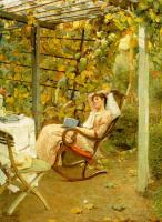 Оскар Блум. Отдых в саду