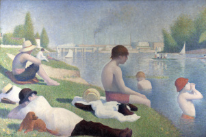 Georges Seurat. Bathing at Asnières