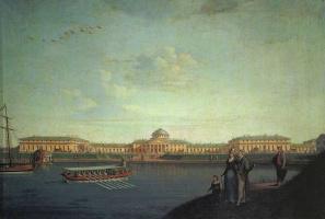 Беньямин Патерсен. Вид Таврического дворца со стороны Невы