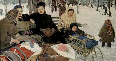 Татьяна Ниловна Яблонская. В парке