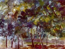 Роберт Рафаилович Фальк. Отдых под деревьями. Самарканд