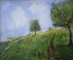 Давид Давидович Бурлюк. Пейзаж с деревьями