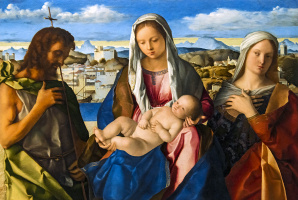 Джованни Беллини. Мадонна с младенцем и Иоанном Крестителем