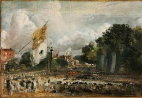 Джон Констебл. Празднование в Восточном Бергхольте мира 1814 года, заключенного в Париже между Францией и союзными державами