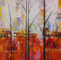 Christina Viver. Trees. Red version