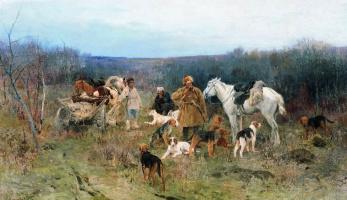 Алексей Степанович Степанович (1858-1923). После охоты. 1894