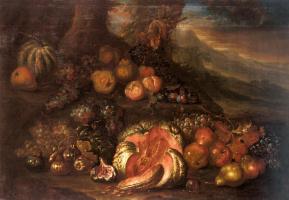 Джозеф Тил Купер. Натюрморт с фруктами