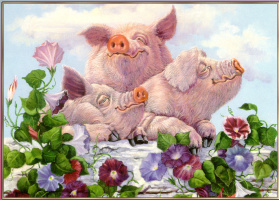 Joan Wright. Pigs