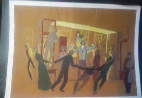 Неизвестный  художник. Танцы