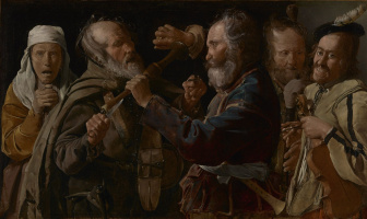 Georges de La Tour. Fight musicians