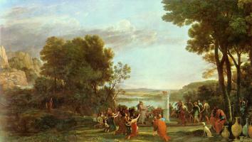 Клод Лоррен. Пейзаж с поклонением золотому тельцу