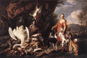 Ян Фейт. Диана и охотничьи собаки