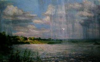 Victor Vladimirovich Kuryanov. Rain over the Oka