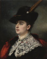 Алексей Алексеевич Харламов Россия 1840 - 1923. Дама в костюме для охоты. 1884