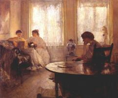 Эдмунд Чарльз Тарбелл. Три читающих девушки