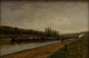 Alexey Petrovich Bogolyubov. Whip on the river Oise. Lil-adam