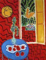 Анри Матисс. Красный интерьер. Натюрморт на синем столе