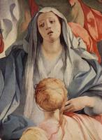 Якопо Понтормо. Алтарный образ Капеллы Каппони в Санта Фелицита во Флоренции, сцена: Снятие с креста, деталь