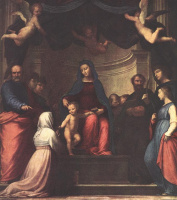 Фра Бартоломео. Брак Святой Екатерины Сиенской