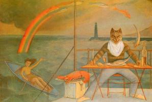 Бальтюс. Кот и рыбы