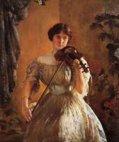 Джозеф Декамп. Девушка со скрипкой