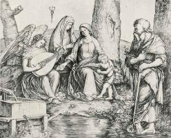 Якопо де Барбари. Святое семейство со святым Павлом и ангелом
