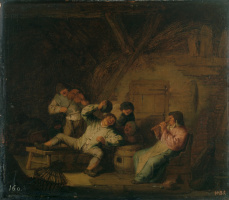 Адриан Янс ван Остаде. Крестьянский концерт со скрипкой и флейтой