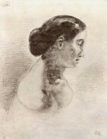 Эжен Делакруа. Портрет дамы в профиль
