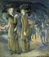 Александр Васильевич Шевченко. Дамы на бульваре. 1911