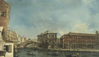 Francesco Guardi. Venice. The Rialto bridge with the Palazzo dei Camerlenghi