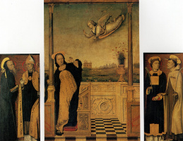 Карло Ди Брачческо. Благовещение со святыми