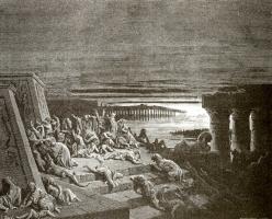 Поль Гюстав Доре. Иллюстрация к Библии: тьма по всей земле Египетской