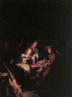 Геррит Доу. Игроки в карты при свечах