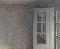 Вильгельм Хаммерсхёй. Комната с балконом, вилла Спарроу