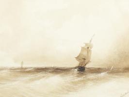 Парусное судно в изменчивых водах