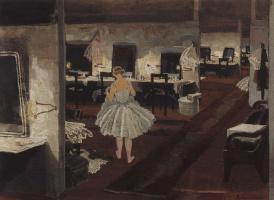 In ballet restroom