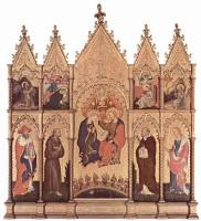 Джентиле да Фабриано. Коронование Марии, общий вид