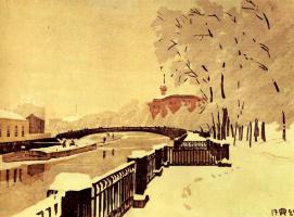 Анна Петровна Остроумова-Лебедева. Санкт-Петербург. Летние сады
